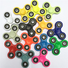 14 Colors Hand Tri-Spinner Fidget Toy Plastic EDC Sensory Fidget Spinners For Autism And ADHD Kids/Adult Funny Anti Stress Toys