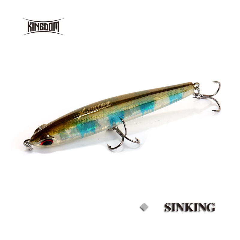 kingdom fishing lure pencil 4g 8g hard fishing bait sink bass lure fly fishing fishing tackle model 4503