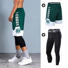 Баскетбольные шорты для мужчин, спортивные, для фитнеса, короткие штаны, быстросохнущие, дышащие, для профессионального бега, для тренировок, свободные шорты с карманом на молнии