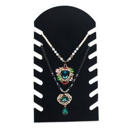 Черное бархатное ожерелье украшение с подвеской Дисплей Стенд бюст шоу Чехол Держатель 19*35,5 см