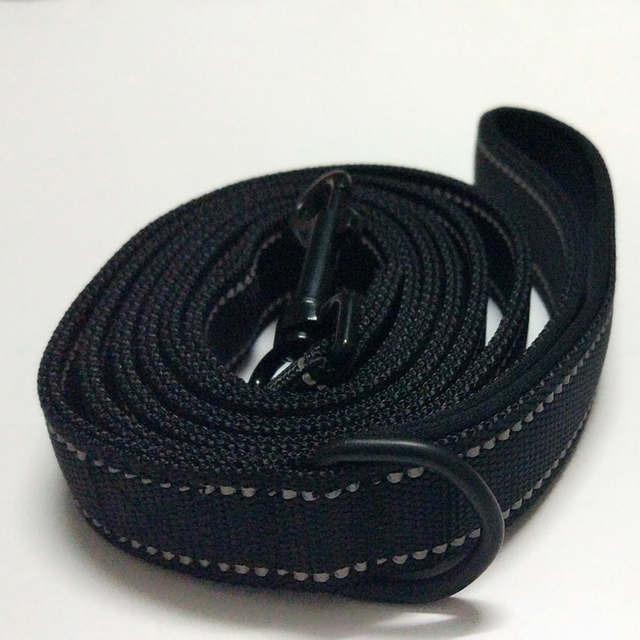 Large Dog HarnessTraction Rope 180cm Big Dog Leash Rope Double layer Nylon Large Dogs Leashes CL107black