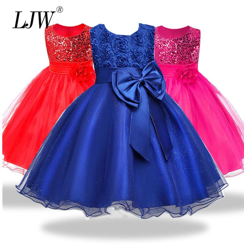 2-14yrs Teenage Clothing Christmas Girl Dress Summer Princess Wedding Party dress sequins Sleeveless New Year For Girls Clothes 2017 new girls party baby children summer sleeveless lace princess wedding dress 2 4 6 8 10 year old fashion flower girls dress