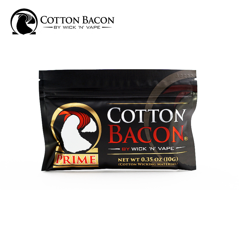 100% Organic Wick N Vape Cotton Bacon Prime Made in USA For RDA RDTA RTA Rebuild Wire Vape No Chemicals/Pesticides Vape Cotton image
