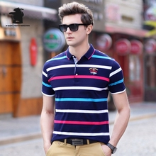 2017 Summer New men's Polo Shirt Designer Fashion Striped High Quality Plus Size Business Casual Polo Shirt Men M~3XL C15E1743