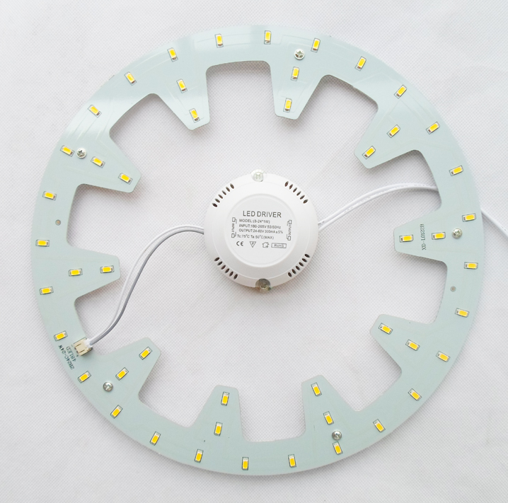 120V 220V 230V 240V DIY surface mounted 24W led ceiling light round led board LED circular tube techo de LED 2 year warranty