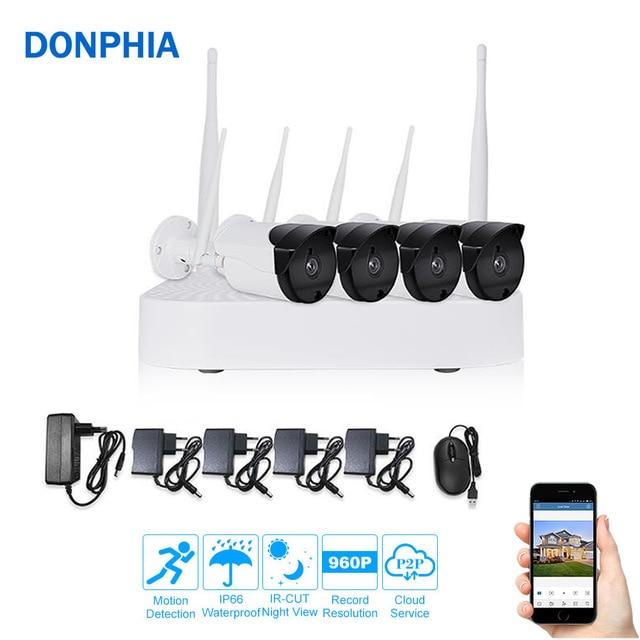 4CH CCTV Camera System Wireless 960P IP Camera System Wifi NVR kit 4PCS IR Outdoor P2P Security System Video Surveillance