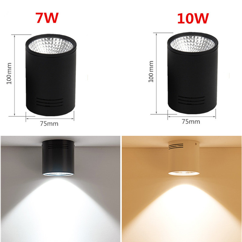 LED DOWNLIGHT BLACK SIZE