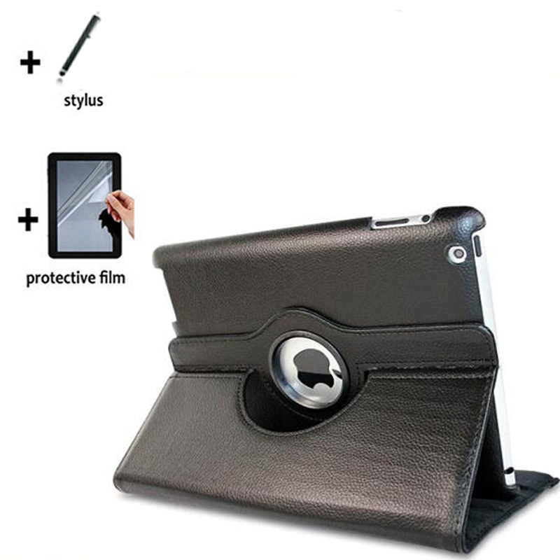 3in1 Rotating 360 Degree Luxury Folio Stand Leather Case Cover +1x Film +1x Stylus For Apple iPad 2 3 4 iPad2 iPad3 New iPad4 горелка tbi sb 360 blackesg 3 м