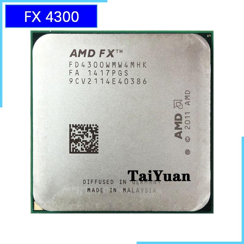 Amd Fx Series Fx 4300 Fx 4300 3 8 Ghz Quad Core Cpu Processor Fd4300wmw4mhk Socket Am3 Cpus Aliexpress
