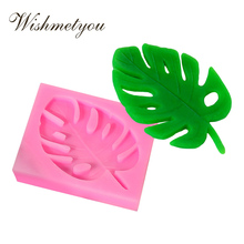 WISHMETYOU A Leaf 3D Tree Leaves Molds Sugar Craft Cake Decorating Tools Silicone Soap Mold NEW Chocolate Cookies Handmade