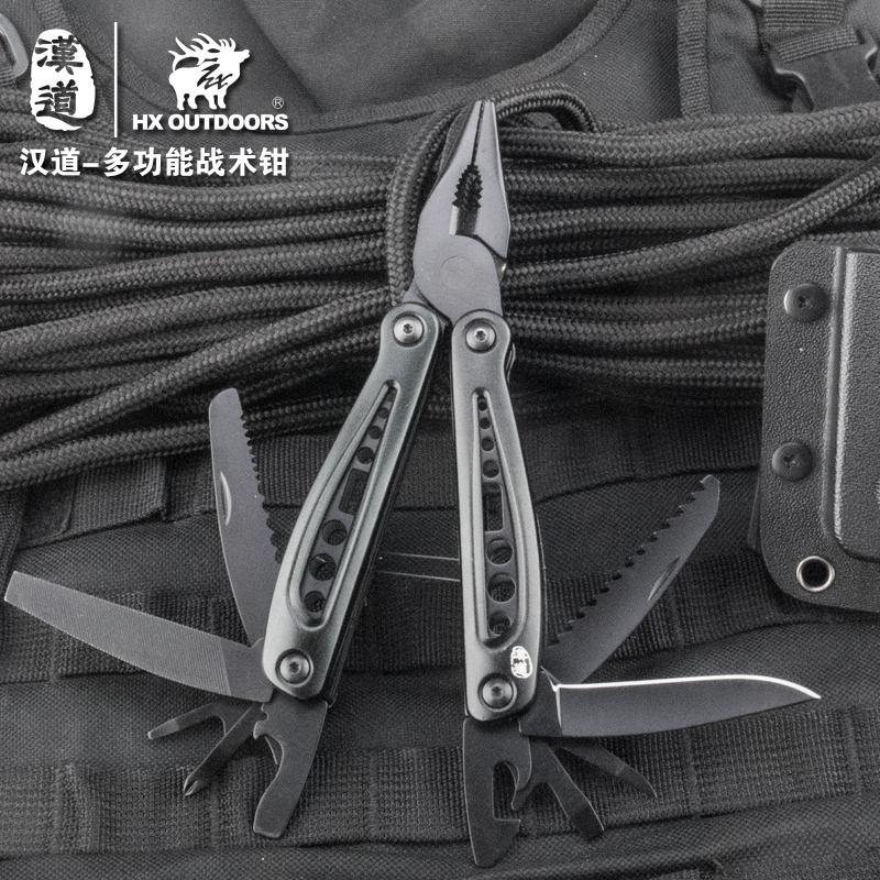 HX OUTDOORS 13 in 1 Multi Pliers tools black pliers with screwdriver kit camping survival climbing hiking knife pocket cutting цена