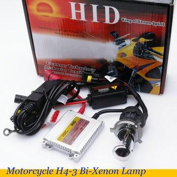 Moto cicleta lámpara de Xenón hid h4 Hola/bajo h4 bi-xenón soquete alta baixa moto luz escondió 35w hid slim lastro kit de bicicleta