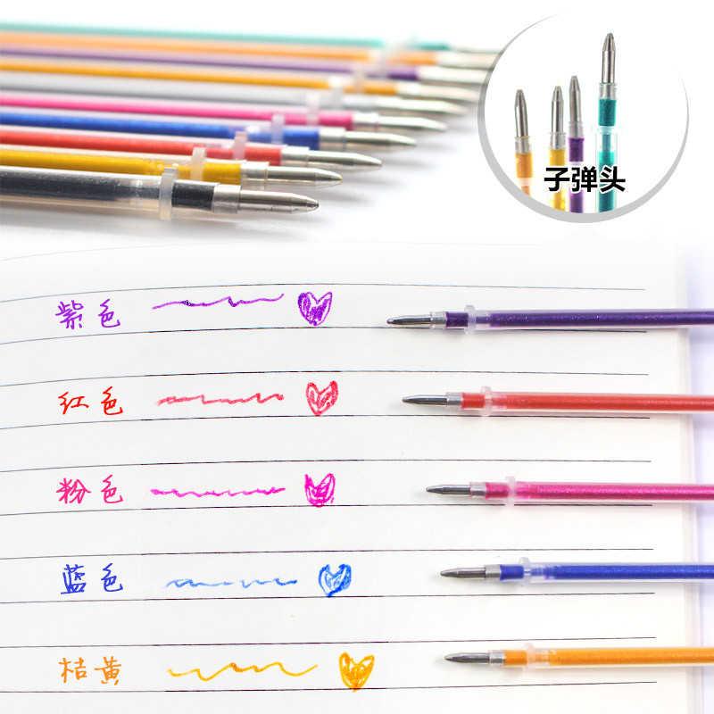 Nhiều Màu Bi Gel Nổi Bật Bút Đổ Bộ Nhiều Màu Sắc Sáng Bút Nạp Lại Cho Trường Học Chancellory Boligrafos 04116