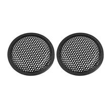 Adeeing 210 x 3mm 2pcs Universal Car Speaker Subwoofer Plastic Grill Cover Fits 8 Inch Subwoofer- Black Protetive Cover R30