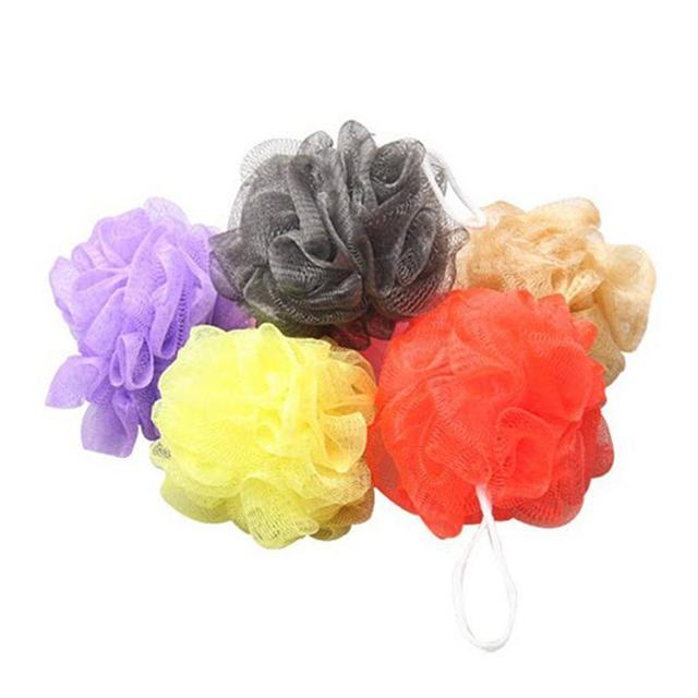 LUOEM 10pcs Bath Shower Body Exfoliate Puff Sponge Mesh Net Bath Balls Set (Random Color)