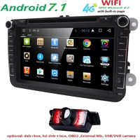 AutoRadio 2 Din Android 7 1 Car DVD Player Multimedia For VW Passat B6 CcT5 Skoda