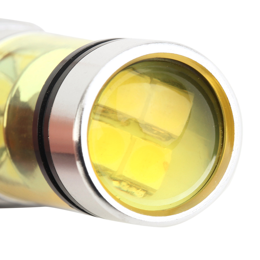 High Power 2 Pcs 100w T20 20 SMD Bright 4300k Golden Light Cars Vehicles Lamp Fog Light Driving Running Bulbs Aluminum Alloy