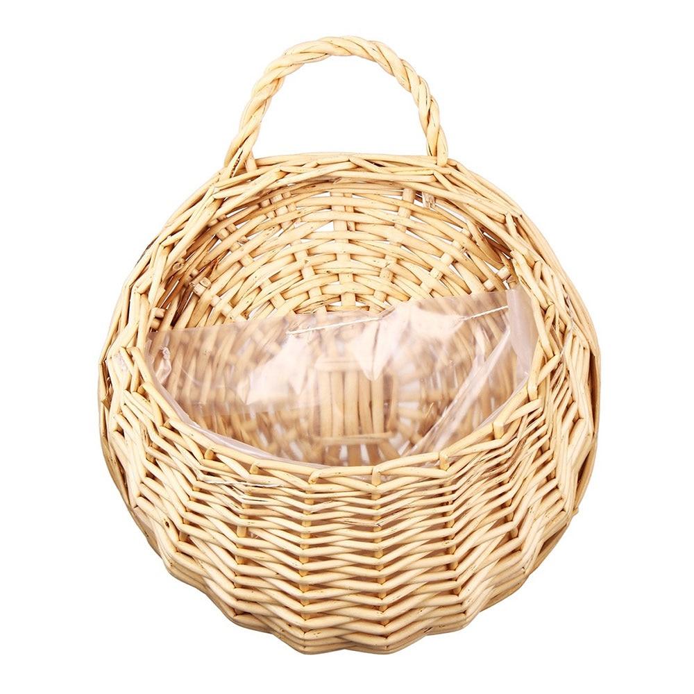 23*18 см ваза контейнер балкон гостиная плантатор эко-Frendly гнездо цветочный горшок Настенный декор Ручная работа подвесная корзина - Цвет: yellow