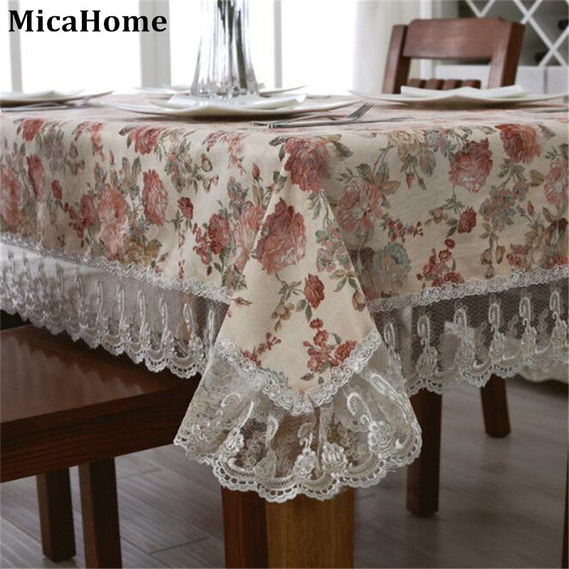 Elegant tablecloths european classical multicolor printing for Deco table multicolore