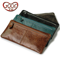 Simple Multi Functional Change Handbag Retro Wind Cell Phone Bag Long Wallet Protective Cover Men And