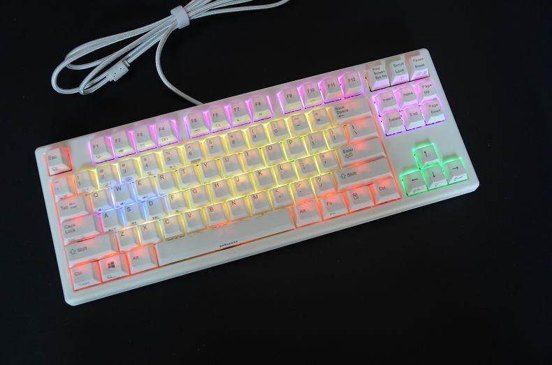 Plum87 Gateron Mx Brown Blue Mechanical Keyboard RGB Backlit TKL Gaming Keyboard PBT Keycap  87 Tenkeyless Plum 108 Backlighting