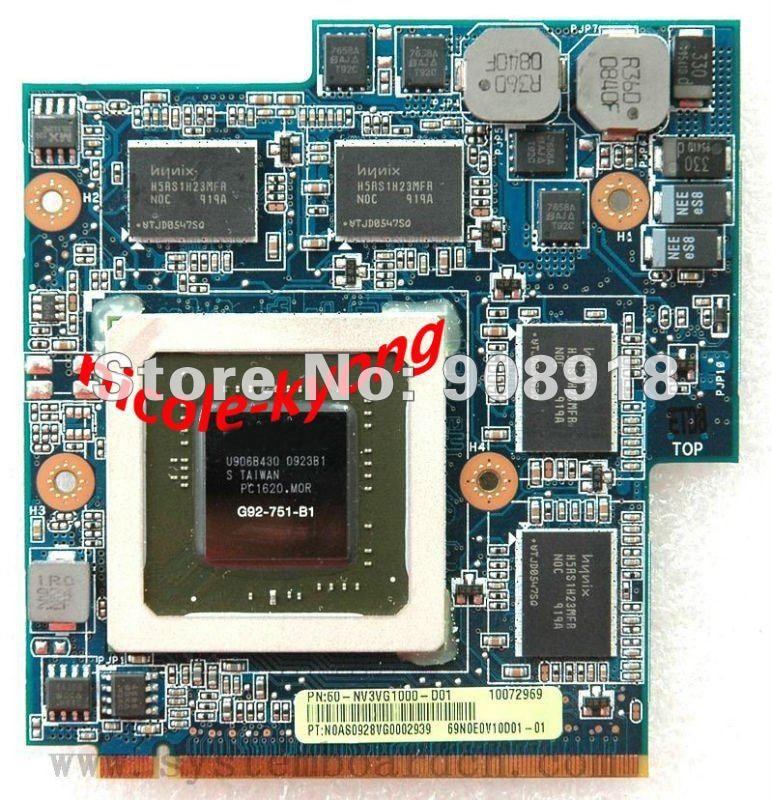 P/N 60-NV3VG1000-D01 GTX260M GTX 260M 1GB DDR3 MXM Laptop notebook VGA Video Card for Asus G60VX G51VX G50VT G50V 08G2015GT21I цена