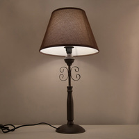 OYGROUP Table Lamp Dark Brown Home Decor Desk Light Indoor Lighting Linen Lampshade For Reading Living