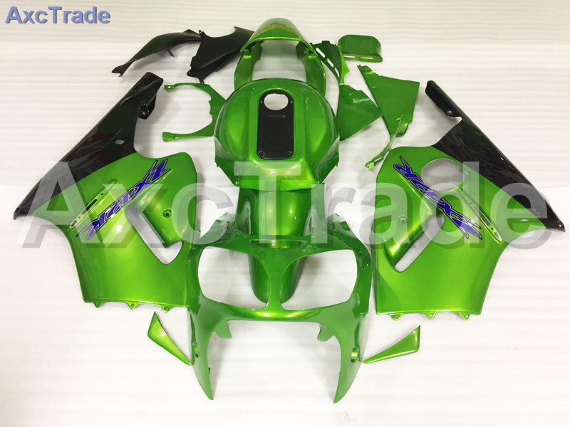 Motorcycle Fairings Kits For Kawasaki ZZ-R 1200 ZX12R ZX-12R 2000 2001 00 01 ABS Plastic Injection Fairing Bodywork Kit Green high grade for kawasaki zx12r fairings 2000 ninja zx12 fairing 2001 zx 12r 00 01 green flame in glossy black sm17