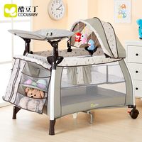 New model quality baby Foldable Dot Metal Coolbaby Multifunctional Baby Bed Game Fashion Crib Folding Bb