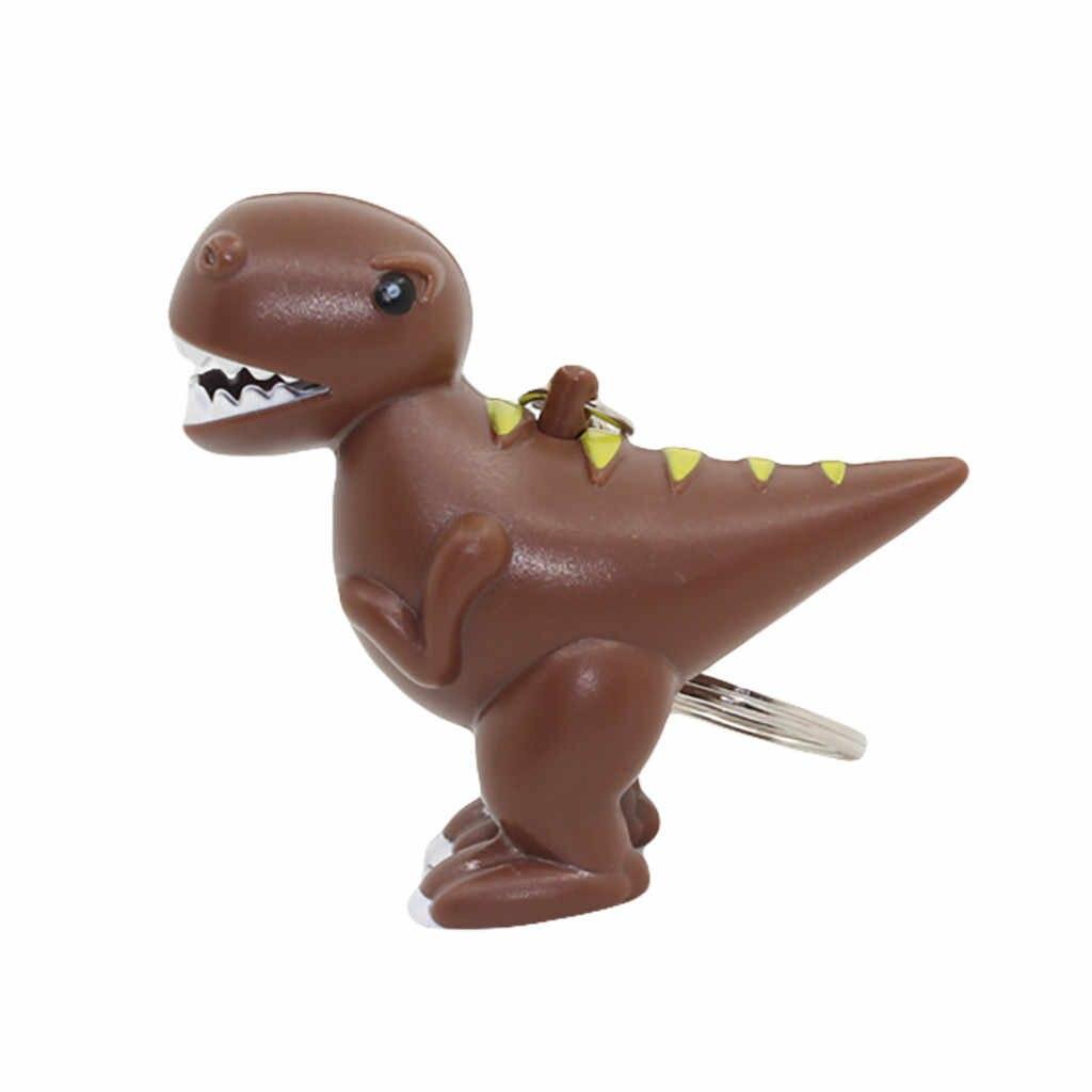 Светодиодный фонарик с изображением динозавра и животных, брелок для ключей, игрушка для снятия стресса, детская игрушка для снятия стресса, игрушка для снятия стресса
