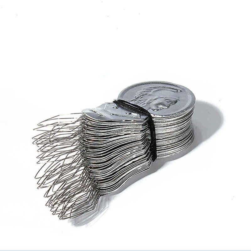 """50 ชิ้น/ล็อต Bow Wire Threader เข็มเย็บร้อยเครื่องแทรกมือเย็บด้ายชั้นนำเครื่องมือ Appr.41 * 17*0.4 มม. /1.61*0.66*0.01"""""""