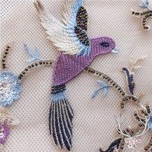 цены на 1 Piece Birds Lace Applique Dress Decoration Applique Patch Evening Dress Lace Fabric Manual DIY Accessories  в интернет-магазинах