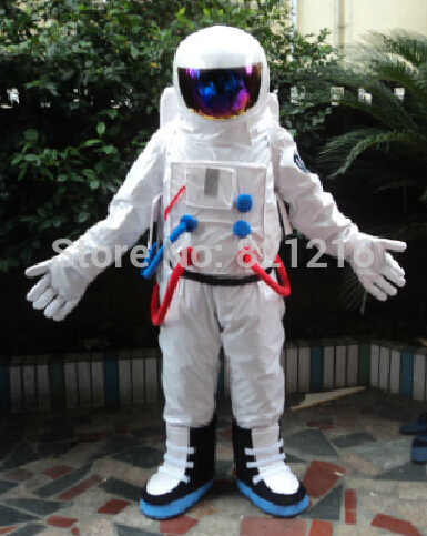 Free shipping Halloween Outfit Costumes suit spaceman cosmonaut mascot costume for adults show