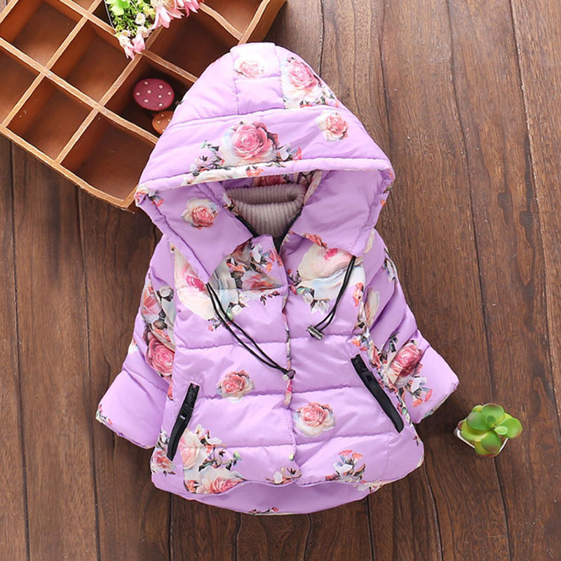 For Baby girl autumn winter clothing cotton jacket outerwear infant baby girl outfits clothes casual sports hooded jackets coats
