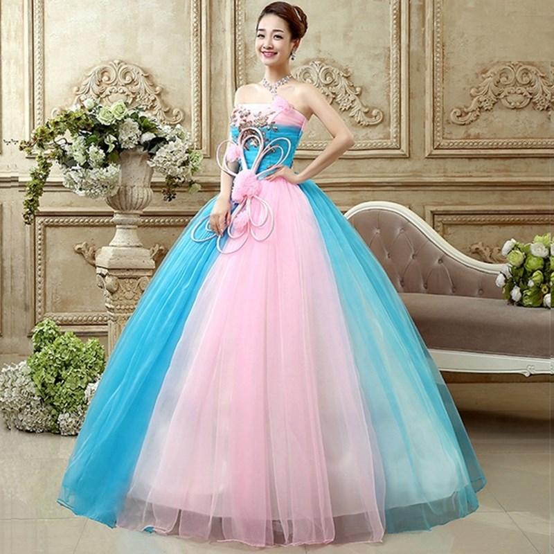Increíble Vestido Azul Real Para El Prom Embellecimiento - Ideas de ...