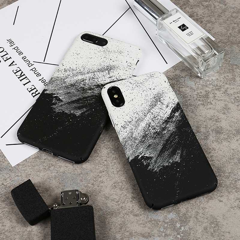 Coque voor iPhone X Abstracte Graffiti Telefoon Case op voor iPhone X 10 iPhone 6 6S 8 7 Plus mode Hard Case Cover Fundas Mannen Vrouwen