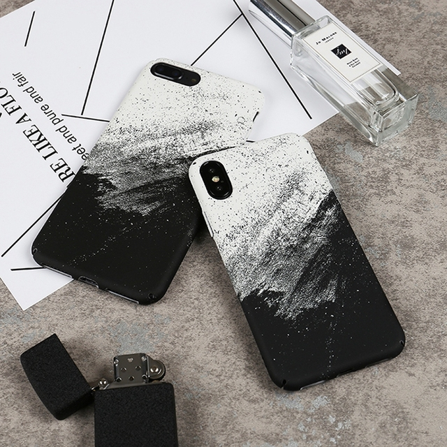 Coque for iPhone X Abstract Graffiti Phone Case on for iPhone X 10 iPhone 6 6S 8 7 Plus Fashion Hard Case Cover Fundas Men Women
