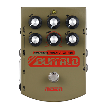 Moen MO-BA BUFFALO With EQ Electric Guitar Effect Pedal True Bypass Speaker Simulater with DI Headphone Ourputs