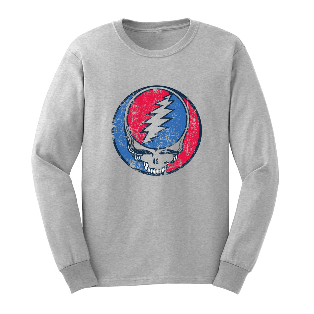Loo show mens grateful dead steal your face vintage long for Retro long sleeve t shirts
