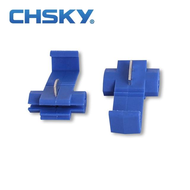 50pcs Blue color Scotch Lock Quick Splice 18 14 AWG Wire Connector ...