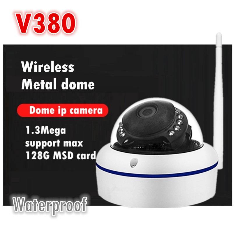 wireless outdoor waterproof  ip dome camera  wifi  HD Remote monitoring security monitor factory v380 onvif memory card ip camera monitoring probe 720p webcam wifi wireless remote monitoring free phone wiring