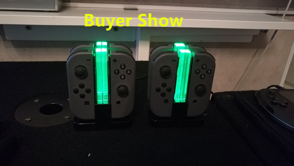 Купить с кэшбэком Nintend Switch Controller Charger for Nintendos Switch, Joy-Cons Charging Dock Station with 4 Charging Dock + LED indication