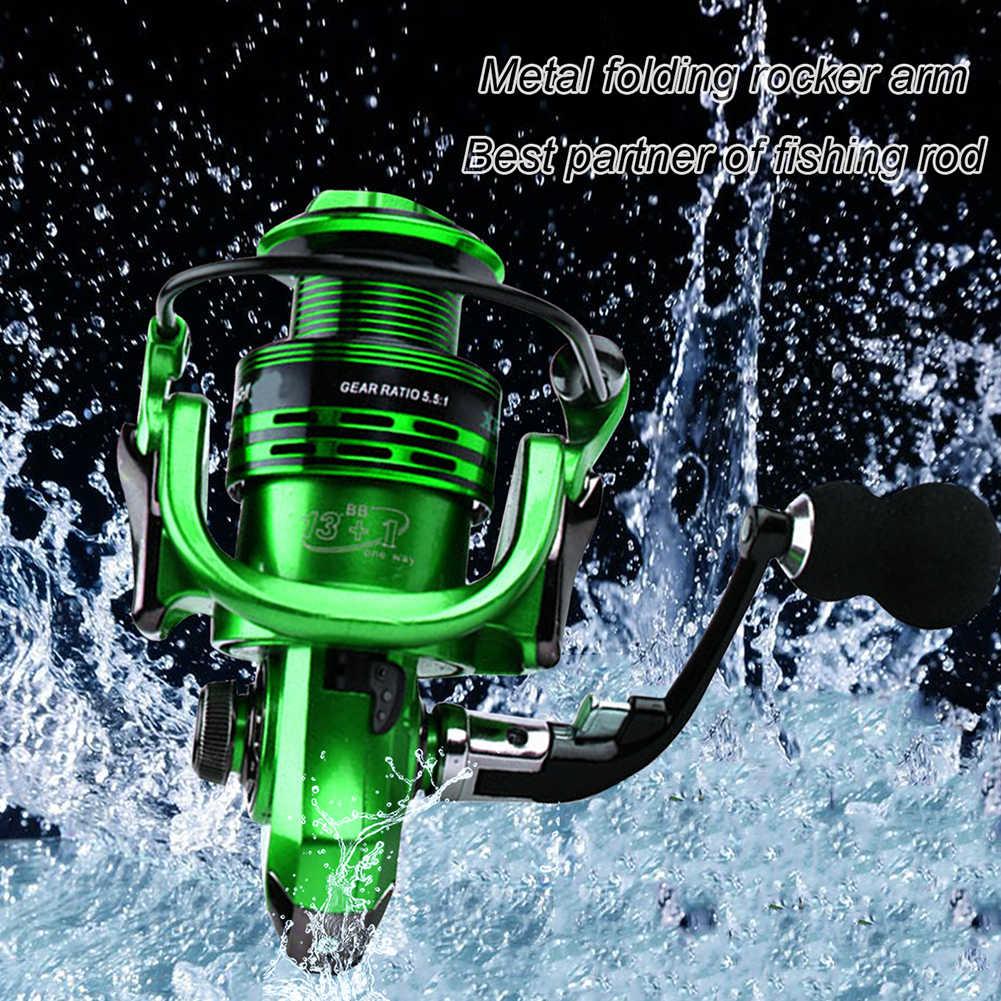 THEKUAI الصيد لفائف 13 + 1BB 5.5: 1 المعدني الكامل الأسماك المغذية Mlinete الغزل بكرات بكرة البحر روك الطعم الصيد حار عجلة