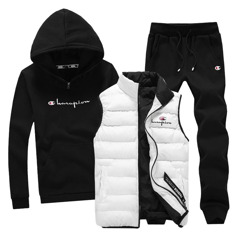 Hoodie Sweatshirt Men 3 Piece Warm Fleece Brand Hoodie For Men Coat Casual Tracksuit Fashion Outwear Hood Male Hooded Pullover