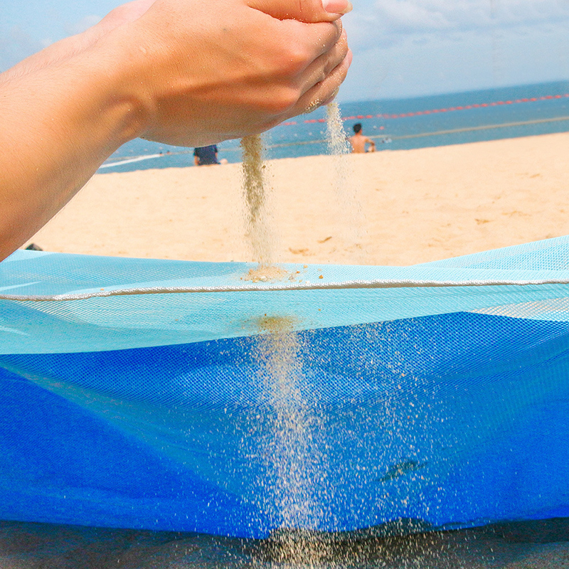 YOHOLOO Spiaggia di Sabbia di Trasporto Zerbino Portatile Blu della spiaggia Zerbino Anti-slip Sabbia Zerbino s Tappetini All'aperto Zerbino per la Spiaggia trasporto di goccia di sostegno