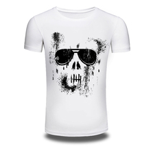 DY-76 Men's short sleeve T-shirt summer T-shirt loose cotton male half sleeve shirt skull printed shirt