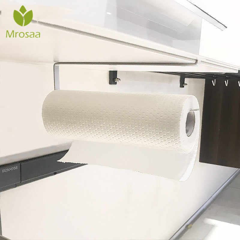 Creative Kitchen Organizer Paper Holder Tissue Towel Rack Hanging Bathroom Toilet Roll Paper Towel Holder Cabinet Storage Rack