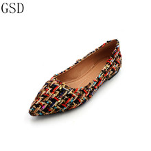 hot deal buy fashion  women's shoes -gs a19 comfortable flat shoes  new arrival   flats shoes large size shoes women  flats