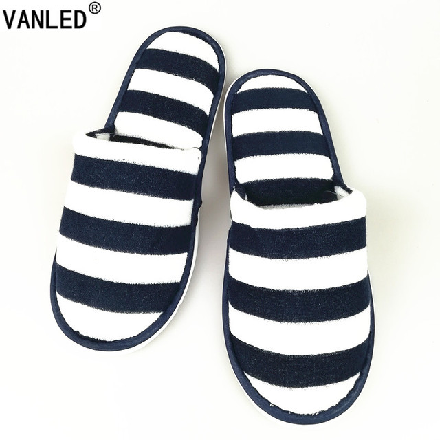 VANLED Wholesale 5 Pairs\lot Autumn Winter Hotel Slippers Non-Slip Home Hospitality Guest Indoor\Floor Slippers Flat Shoes