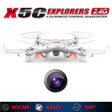 SYMA X5C Original 2.4GHz 4CH 6-Axis RC Helicopter Resistant Gyro remote control Quadcopter Toys Drone With HD Camera